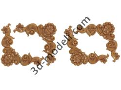 001 - Угловой элемент - 3d модели для ЧПУ - stl, art, rlf