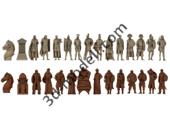 002 - Шахматы Арабы-римляне - 3d модели для ЧПУ - stl, art, rlf