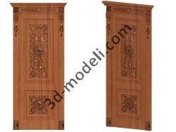 003 - Дверь - 3d модели для ЧПУ - stl, art, rlf
