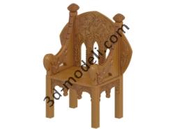 003 - Кресло - 3d модели для ЧПУ - stl, art, rlf
