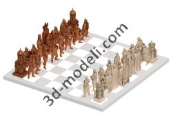 003 - Шахматы Ледовое Побоище - 3d модели для ЧПУ - stl, art, rlf