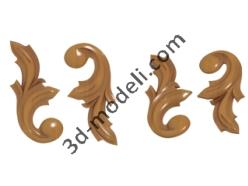 003 - Угловой элемент - 3d модели для ЧПУ - stl, art, rlf