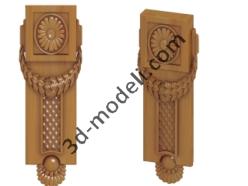 003 - Накладка декоративная - 3d модели для ЧПУ - stl, art, rlf