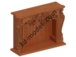 004 - Камин - 3d модели для ЧПУ - stl, art, rlf