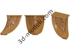 004 - Ножка - 3d модели для ЧПУ - stl, art, rlf