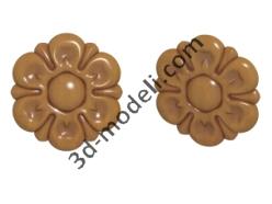 004 - Цветок - 3d модели для ЧПУ - stl, art, rlf