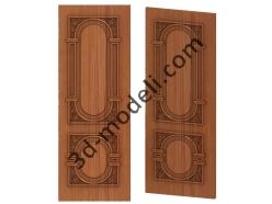 005 - Дверь - 3d модели для ЧПУ - stl, art, rlf