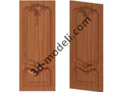 006 - Дверь - 3d модели для ЧПУ - stl, art, rlf