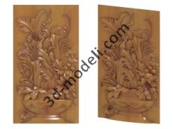 006 - Растительный орнамент - 3d модели для ЧПУ - stl, art, rlf