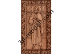 008 - Икона Пророк Илья - 3d модели для ЧПУ - stl, art, rlf