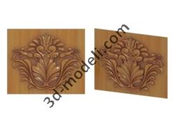008 - Растительный орнамент - 3d модели для ЧПУ - stl, art, rlf
