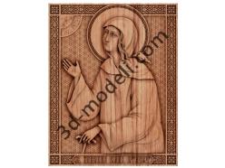 009-Икона Святая Ксения Питербуржская - 3d модели для ЧПУ - stl, art, rlf