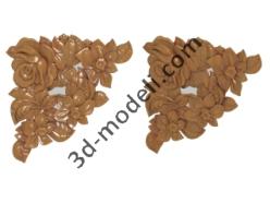 009 - Растительный орнамент - 3d модели для ЧПУ - stl, art, rlf
