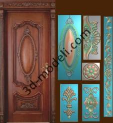 009 - Дверь - 3d модели для ЧПУ - stl, art, rlf