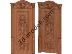 010 - Дверь - 3d модели для ЧПУ - stl, art, rlf