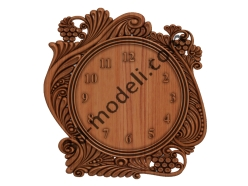 011 - Часы - 3d модели для ЧПУ - stl, art, rlf