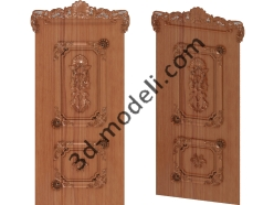 011 - Дверь - 3d модели для ЧПУ - stl, art, rlf