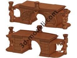 012 - Мебель - 3d модели для ЧПУ - stl, art, rlf