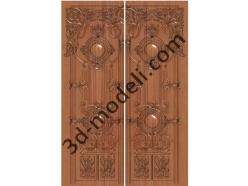 012 - Дверь - 3d модели для ЧПУ - stl, art, rlf