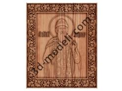 013 - Икона Святой Владимир - 3d модели для ЧПУ - stl, art, rlf