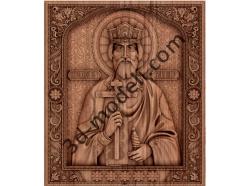 014 - Икона Святой князь Владимир - 3d модели для ЧПУ - stl, art, rlf