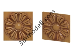 014 - Цветок - 3d модели для ЧПУ - stl, art, rlf