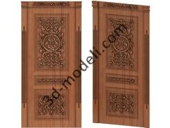 014 - Дверь - 3d модели для ЧПУ - stl, art, rlf