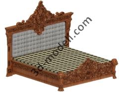 015 - Спальня резная - 3d модели для ЧПУ - stl, art, rlf