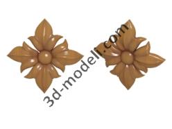 016 - Цветок - 3d модели для ЧПУ - stl, art, rlf