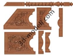 017 - Мебель - 3d модели для ЧПУ - stl, art, rlf