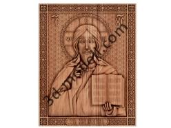 018 - Икона Господь Вседержитель - 3d модели для ЧПУ - stl, art, rlf