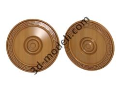 018 - Розетка декоративная - 3d модели для ЧПУ - stl, art, rlf