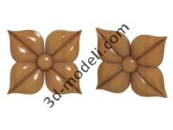 020 - Цветок - 3d модели для ЧПУ - stl, art, rlf