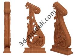 020 - Столб декоративный - 3d модели для ЧПУ - stl, art, rlf