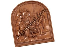 020 - Резное панно Рождество Христово - 3d модели для ЧПУ - stl, art, rlf