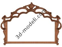 020 - Спальня резная - 3d модели для ЧПУ - stl, art, rlf