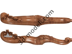 023 - Ножка - 3d модели для ЧПУ - stl, art, rlf
