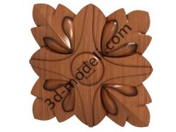 026 - Цветок - 3d модели для ЧПУ - stl, art, rlf