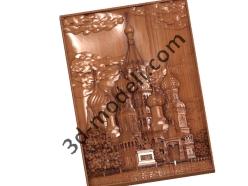 026 - Резное панно Покровский собор - 3d модели для ЧПУ - stl, art, rlf