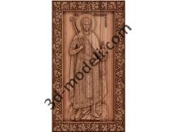 027 Икона Святого мученика Иоанна-Владимира князя Сербского - 3d модели для ЧПУ - stl, art, rlf