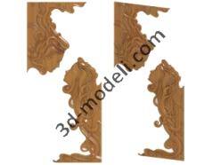 027-Накладка декоративная - 3d модели для ЧПУ - stl, art, rlf