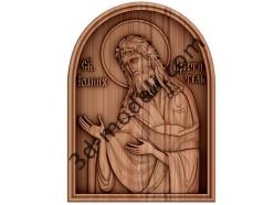 028 - Икона Креститель - 3d модели для ЧПУ - stl, art, rlf