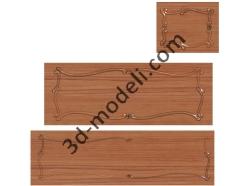 030 - Резная панель - 3d модели для ЧПУ - stl, art, rlf