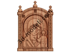 031 - Икона Казанская Богородица - 3d модели для ЧПУ - stl, art, rlf