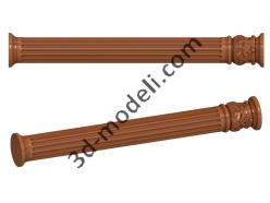 031 - Столб декоративный - 3d модели для ЧПУ - stl, art, rlf