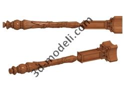 036 - Столб декоративный - 3d модели для ЧПУ - stl, art, rlf