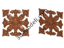 036 - Розетка декоративная - 3d модели для ЧПУ - stl, art, rlf
