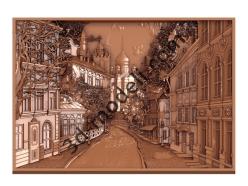036 - Резное панно Город - 3d модели для ЧПУ - stl, art, rlf