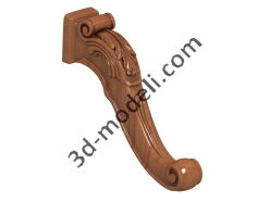 036 - Ножка - 3d модели для ЧПУ - stl, art, rlf
