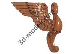 037 - Ножка - 3d модели для ЧПУ - stl, art, rlf